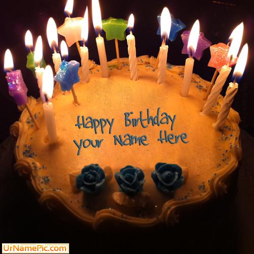 Happy birthday cake with name - Birthday wishes