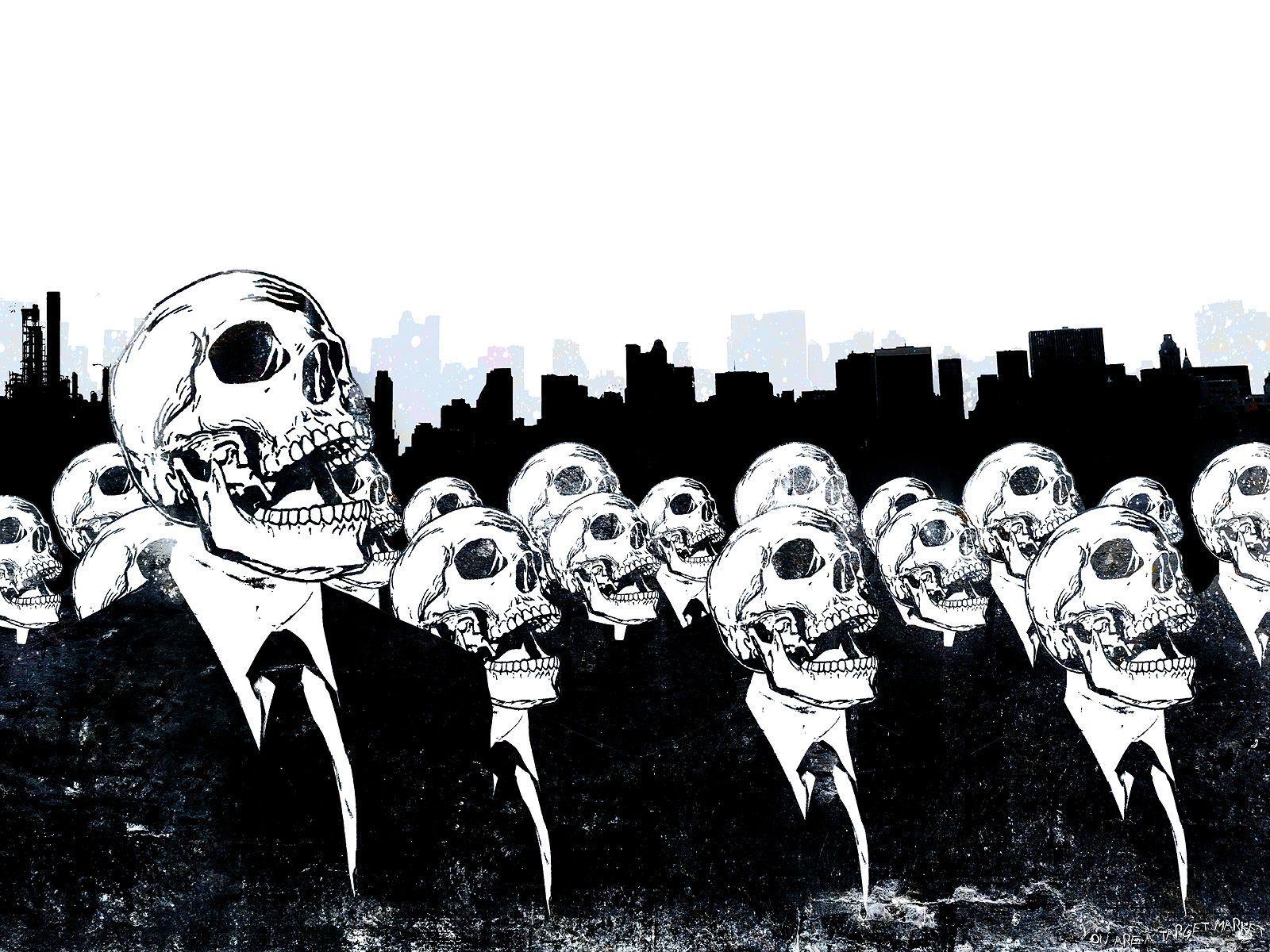 Black And White Skull Wallpaper Sf Wallpaper