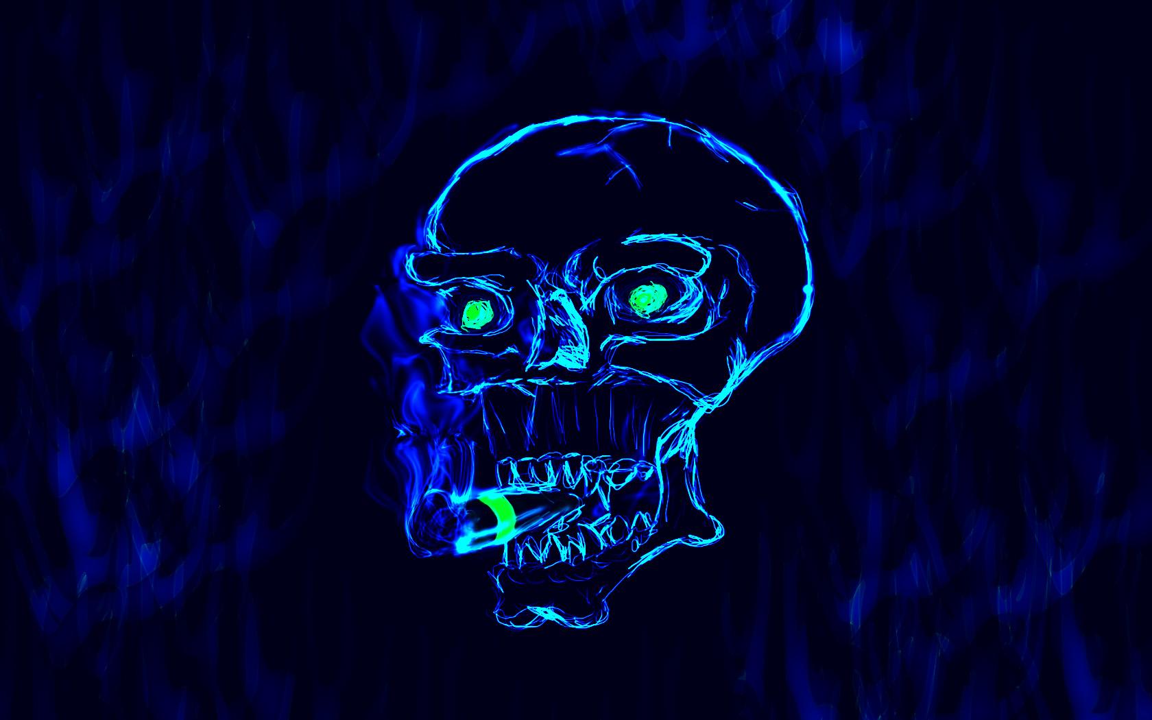 снимок картинки череп на синем фоне романец