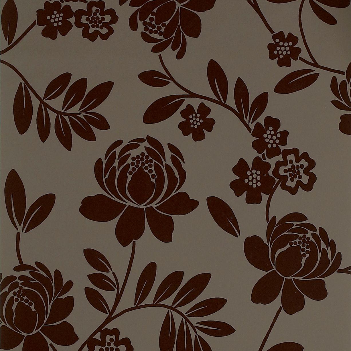 Brown Floral Wallpaper Sf Wallpaper