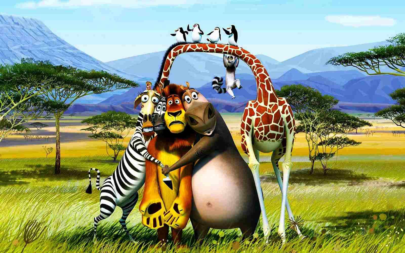 Madagascar 3 Movie Cartoon HD Background for iPad mini 3