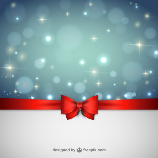 Christmas background with red ribbon Vector | Free Download