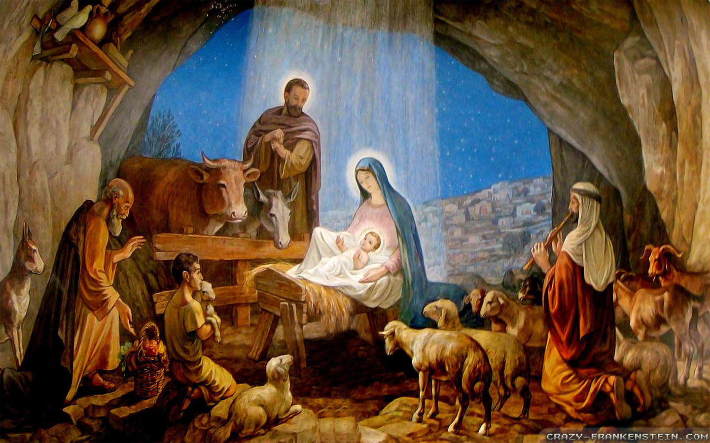 Collection of Christmas Nativity Scene Wallpaper on HDWallpapers