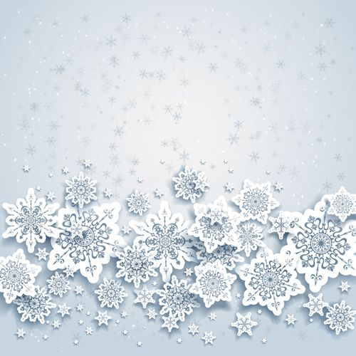 Beautiful snowflakes christmas backgrounds vector 02 - Vector