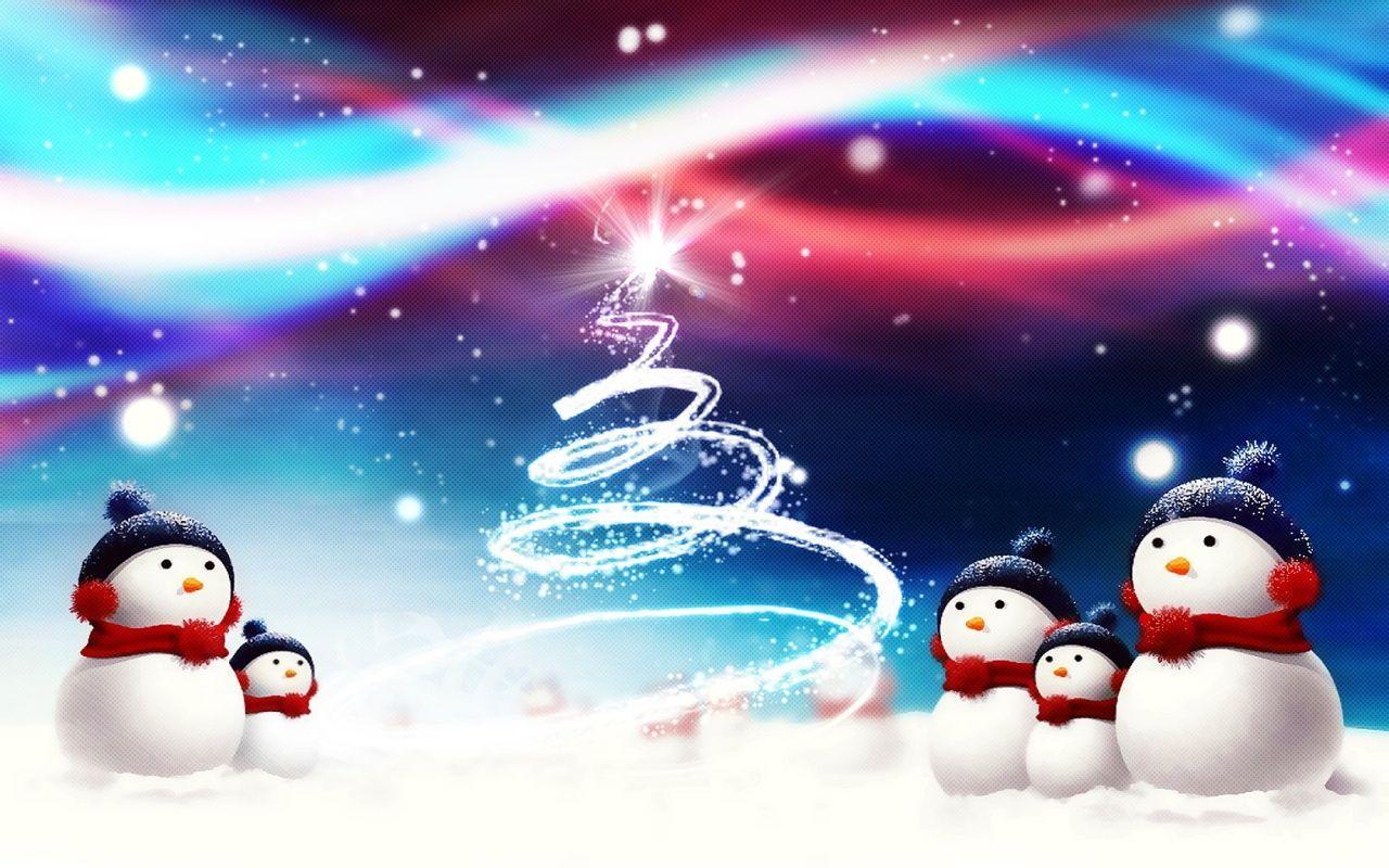 christmas wallpaper snowman 3