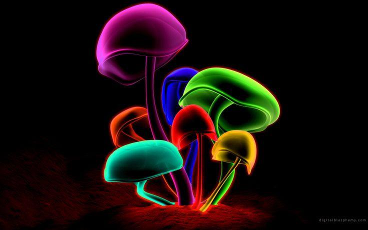 Cool 3D Wallpaper | Mushrooms Wallpapers | Desktop Wallpapers