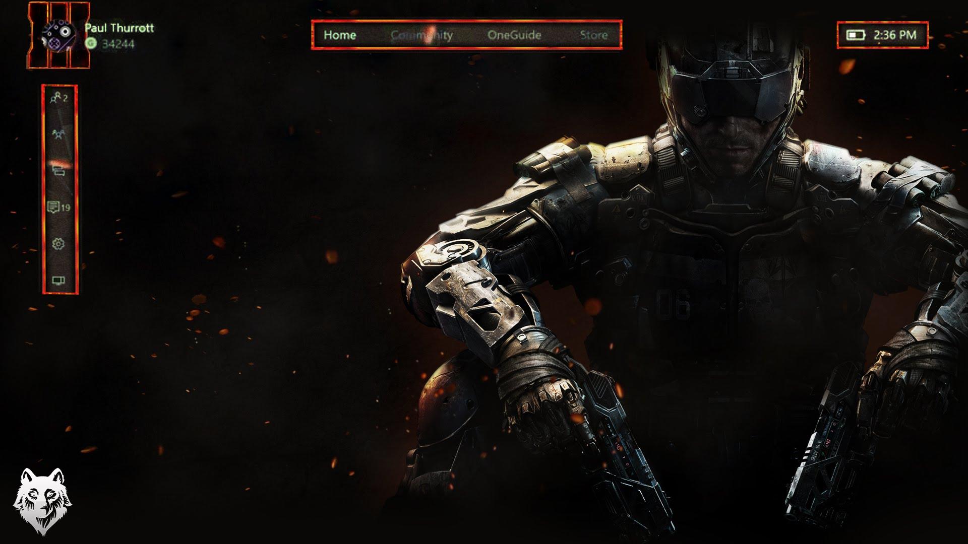 BO3/ Black Ops 3 Xbox One Custom Xbox One Background - YouTube