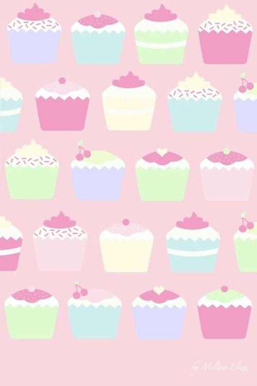 Cupcakes Pastel Wallpaper | Etc  | Pinterest | Pastel, Wallpapers