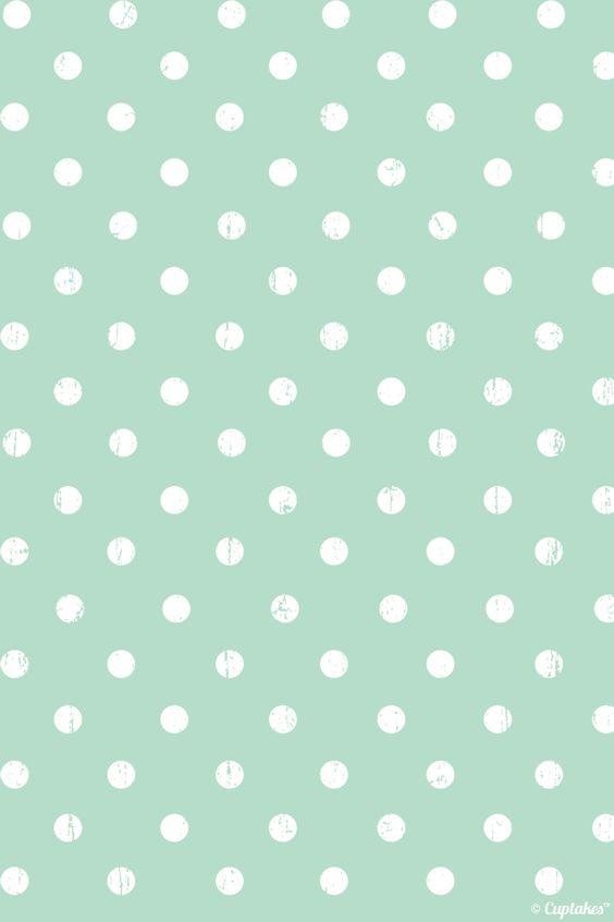 polka dot mint   [ wallpaper ] iphone   Pinterest   Dots, Love and