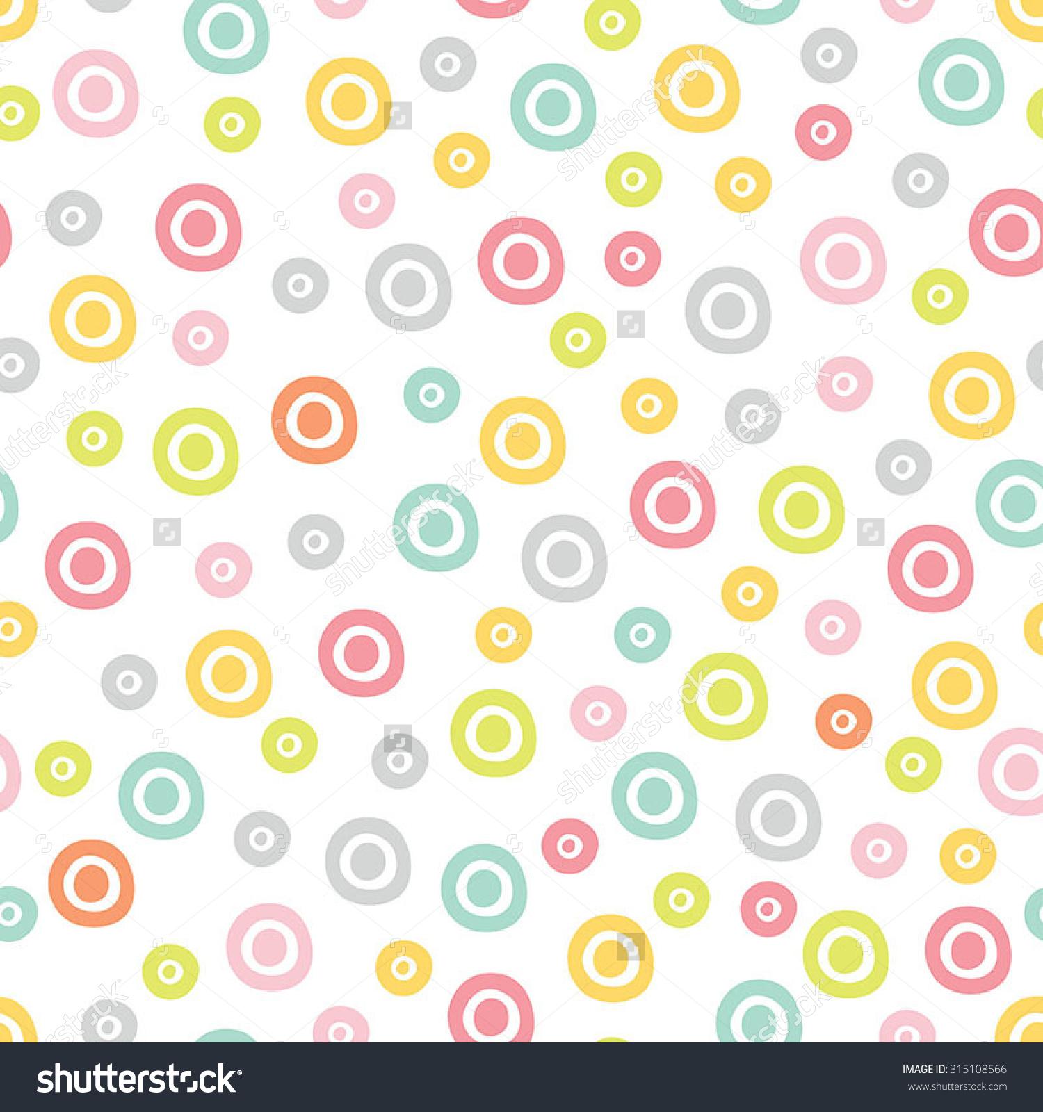 Cute Polka Dot Pattern Seamless Pattern Stock Vector 315108566