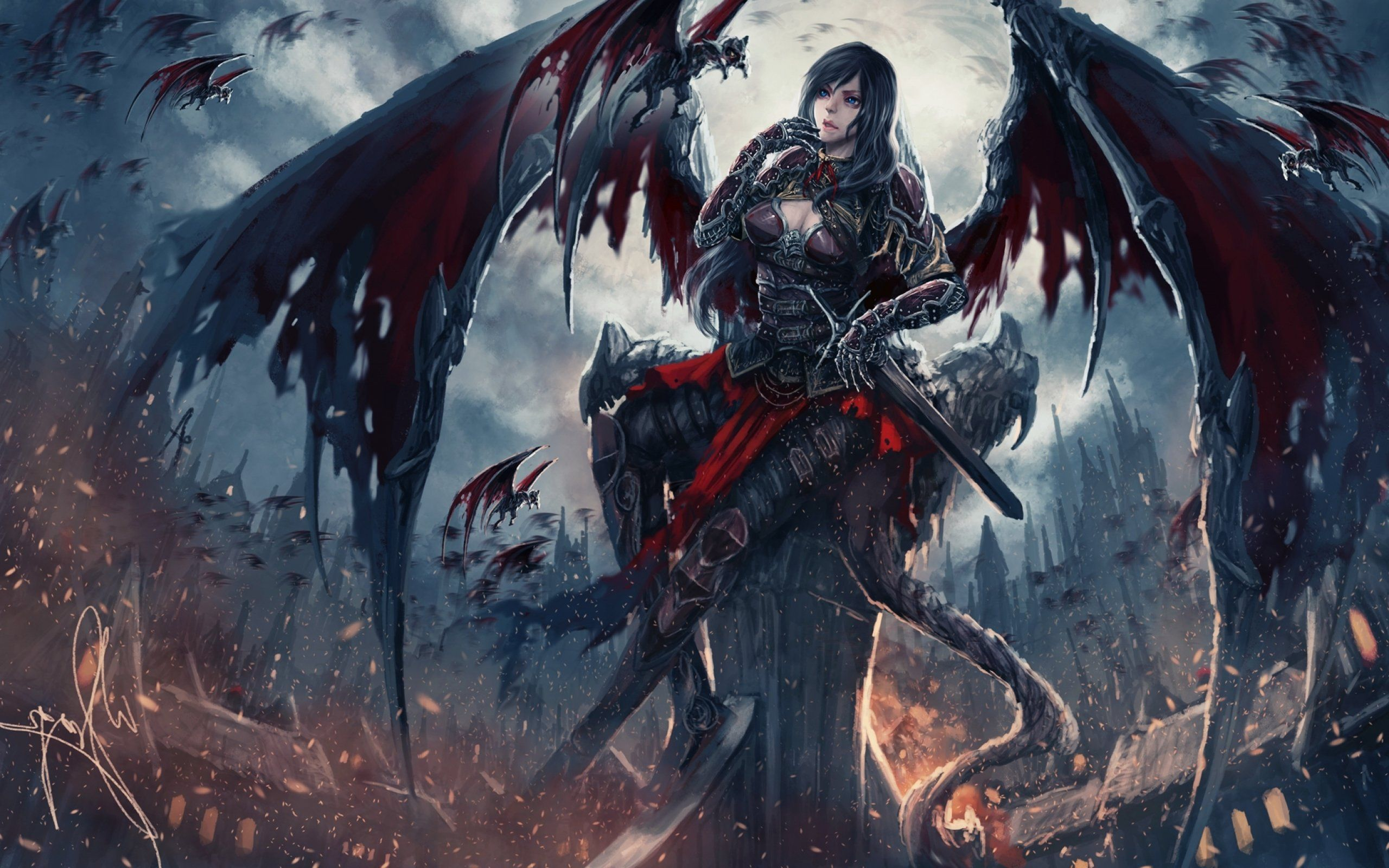 Demon angel wallpaper