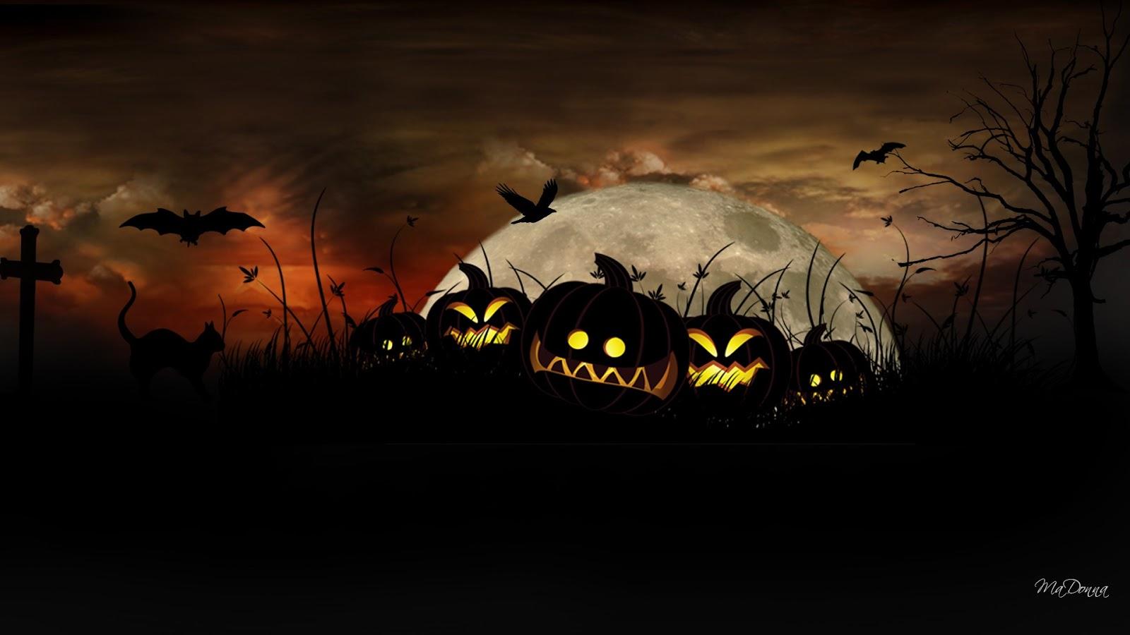 Хэллоуинские обои на рабочий стол