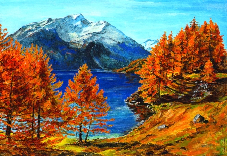 Fall In The Mountains - Mountains & Nature Background Wallpapers