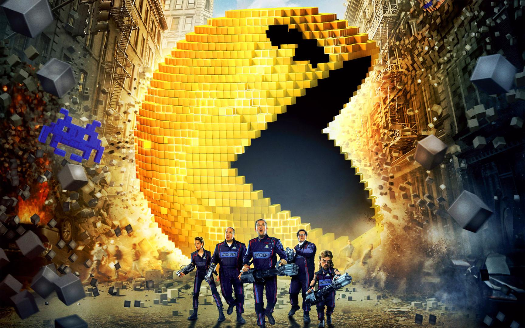 2015 Pixels Movie Poster Wallpaper - DreamLoveWallpapers
