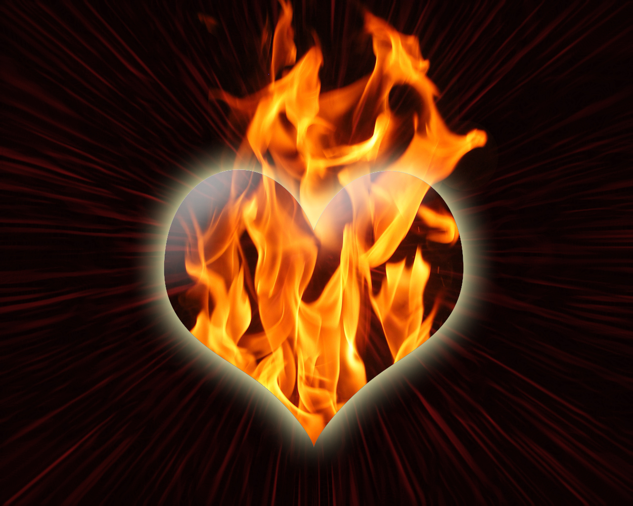 Fire heart Wallpapers - 500 Collection HD Wallpaper
