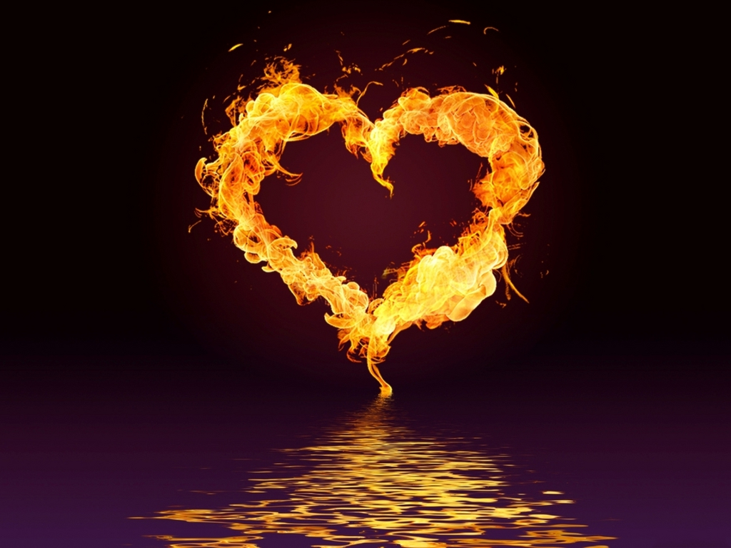 Fire Heart Wallpaper - HD Wallpapers Backgrounds of Your Choice