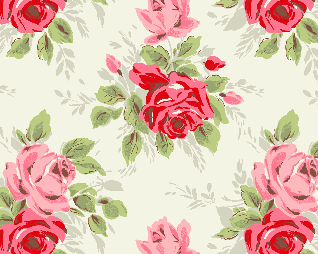 Floral Print Wallpaper Sf Wallpaper