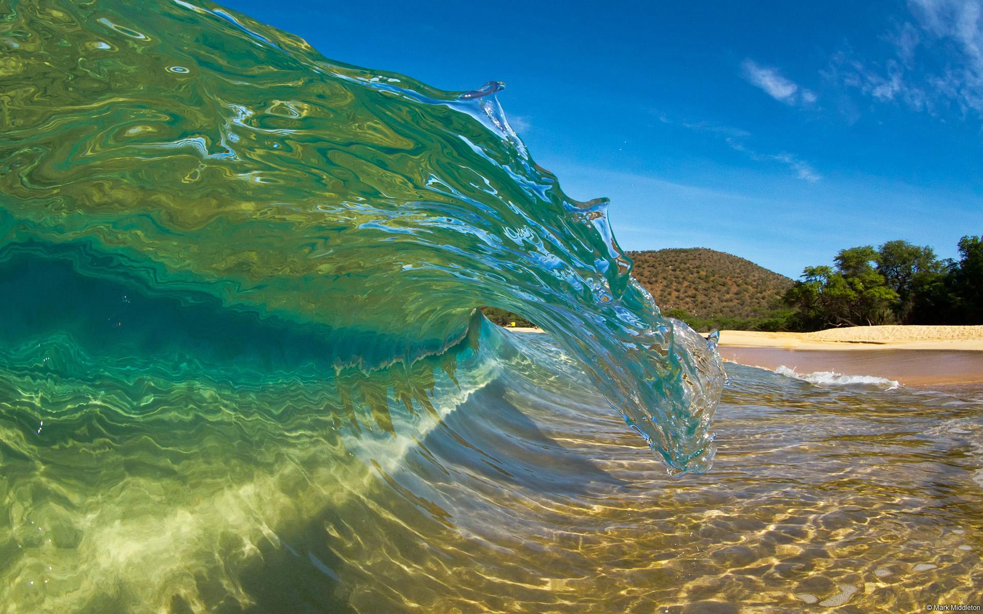 Hawaiian Beaches | Download wallpaper Wave, whirlpool, Hawaii