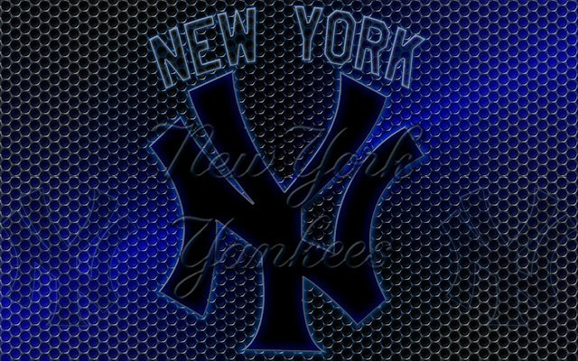 Wallpapers By Wicked Shadows: New York Yankees Logo Grid Wallpaper