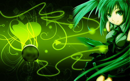 Green Vocaloid - Other & Anime Background Wallpapers on Desktop