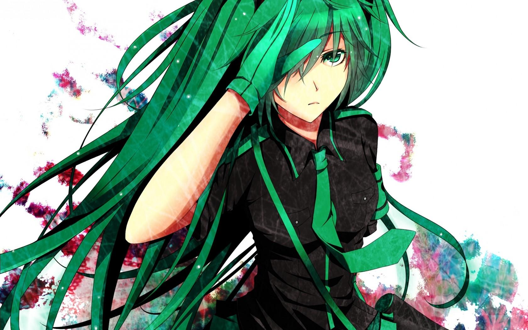 Anime Green Hair Girl #Manga #Illustration #Anime | Anime & Manga