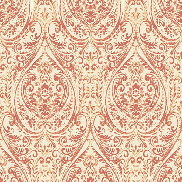 1014-001867 Coral Damask - Gypsy - Kismet Wallpaper by A-Street Prints