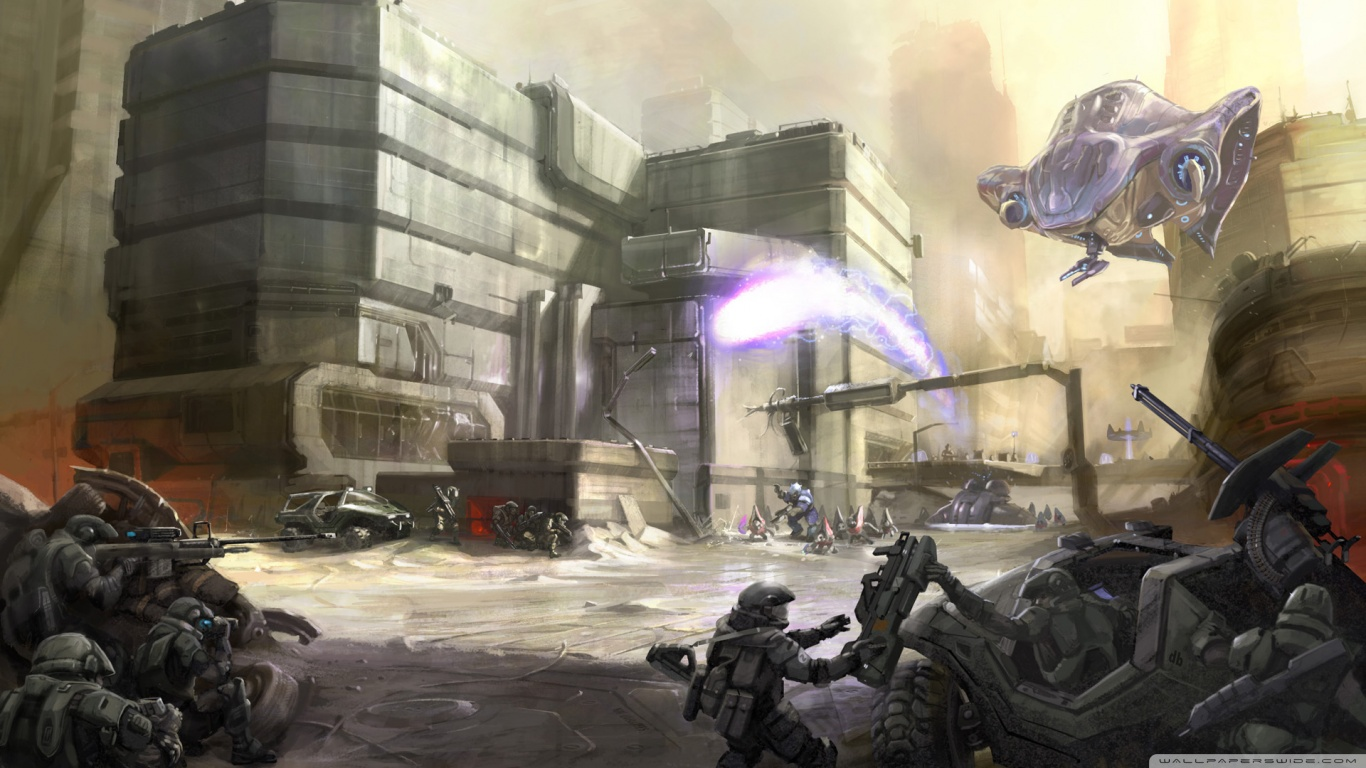 Halo 3 ODST HD desktop wallpaper : Widescreen : High Definition