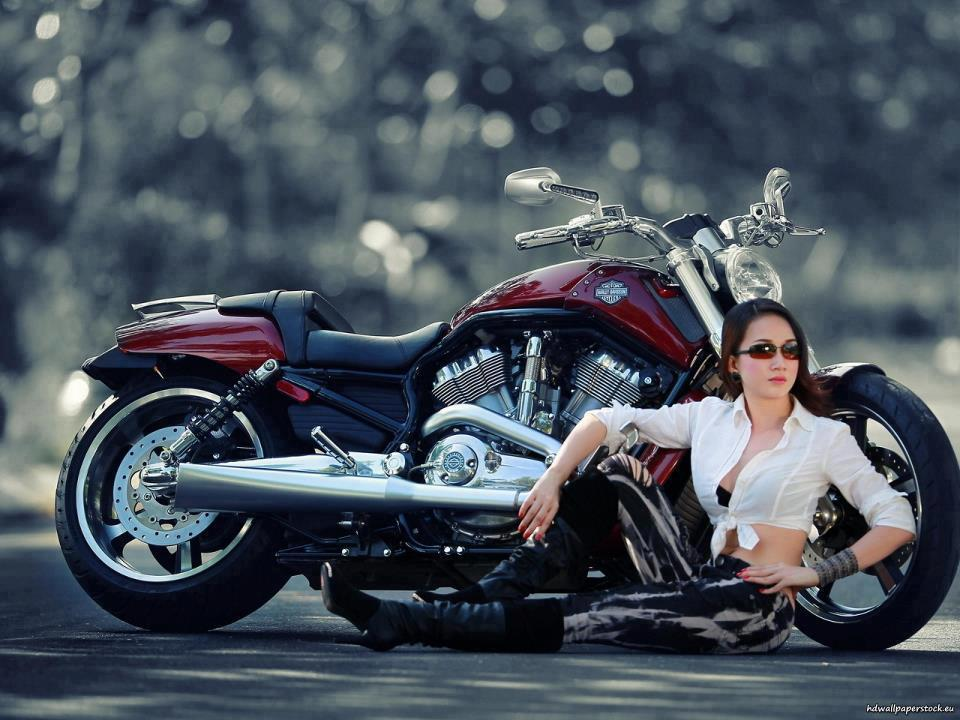 Download HARLEY-DAVIDSON wit Sexy Girl Wallpaper HD FREE Uploaded