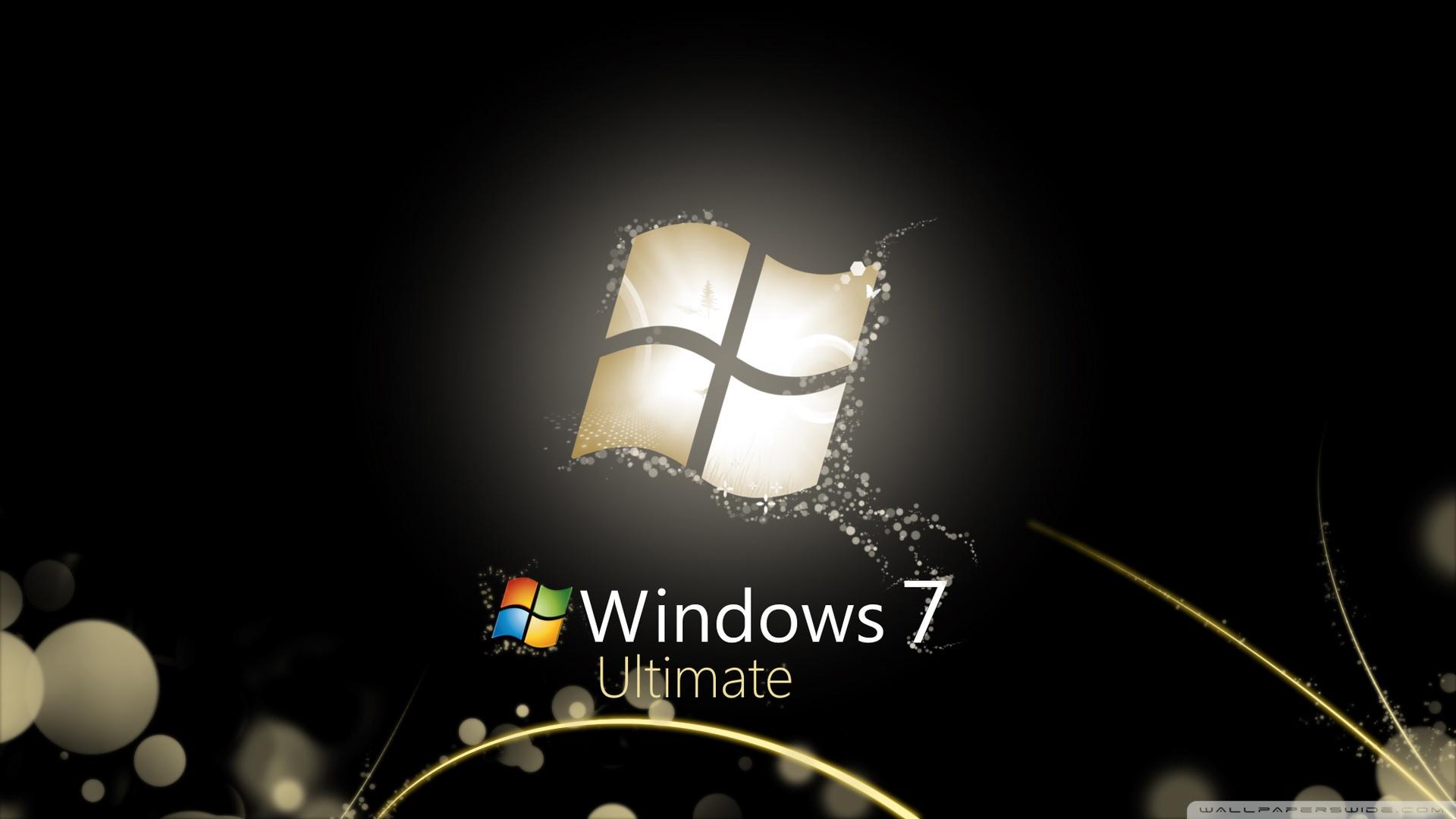 Windows 7 Ultimate Bright Black HD desktop wallpaper : Widescreen