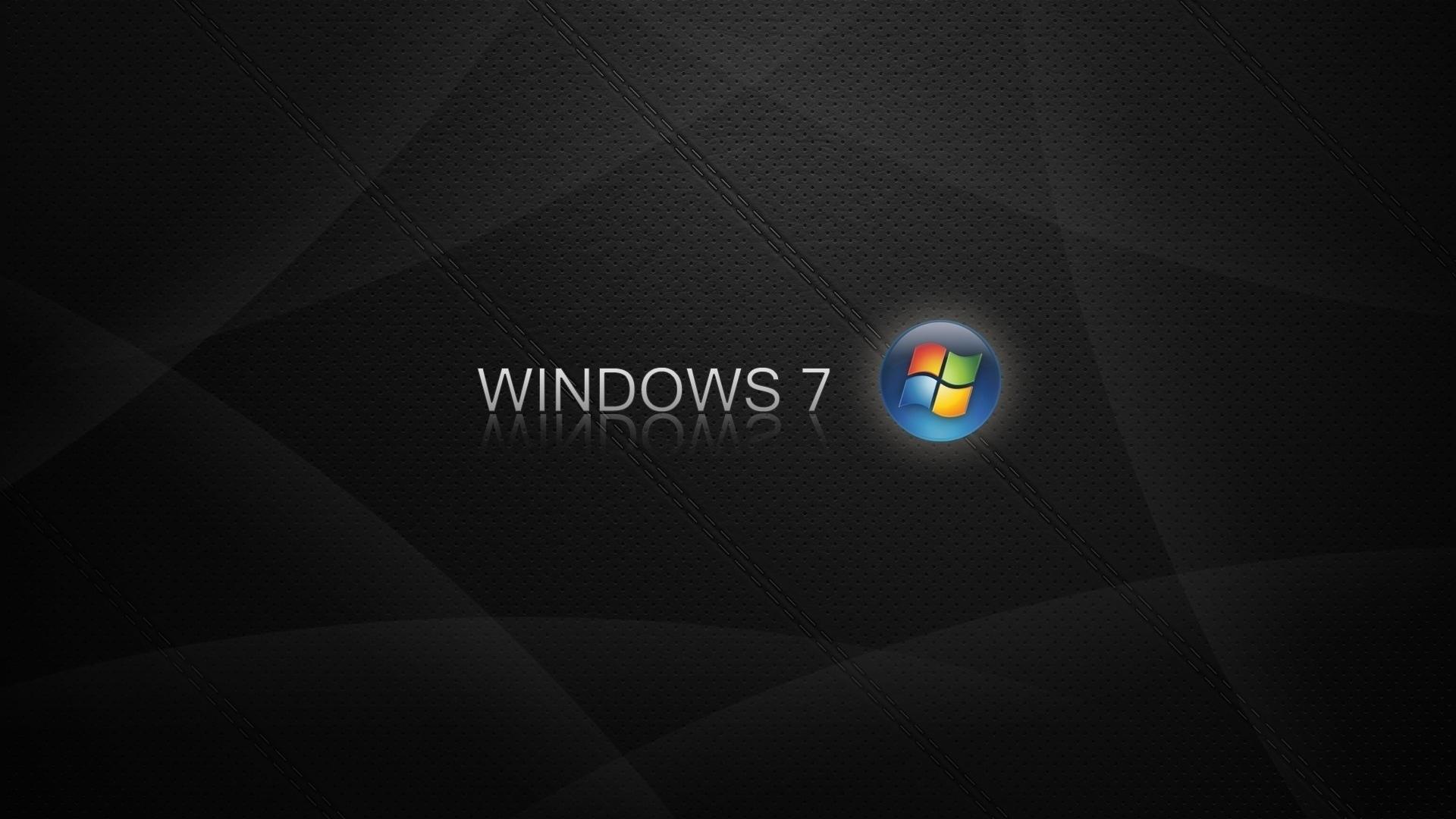 Download Wallpaper 1920x1080 Windows 7, Logo, Blue, Orange, Black