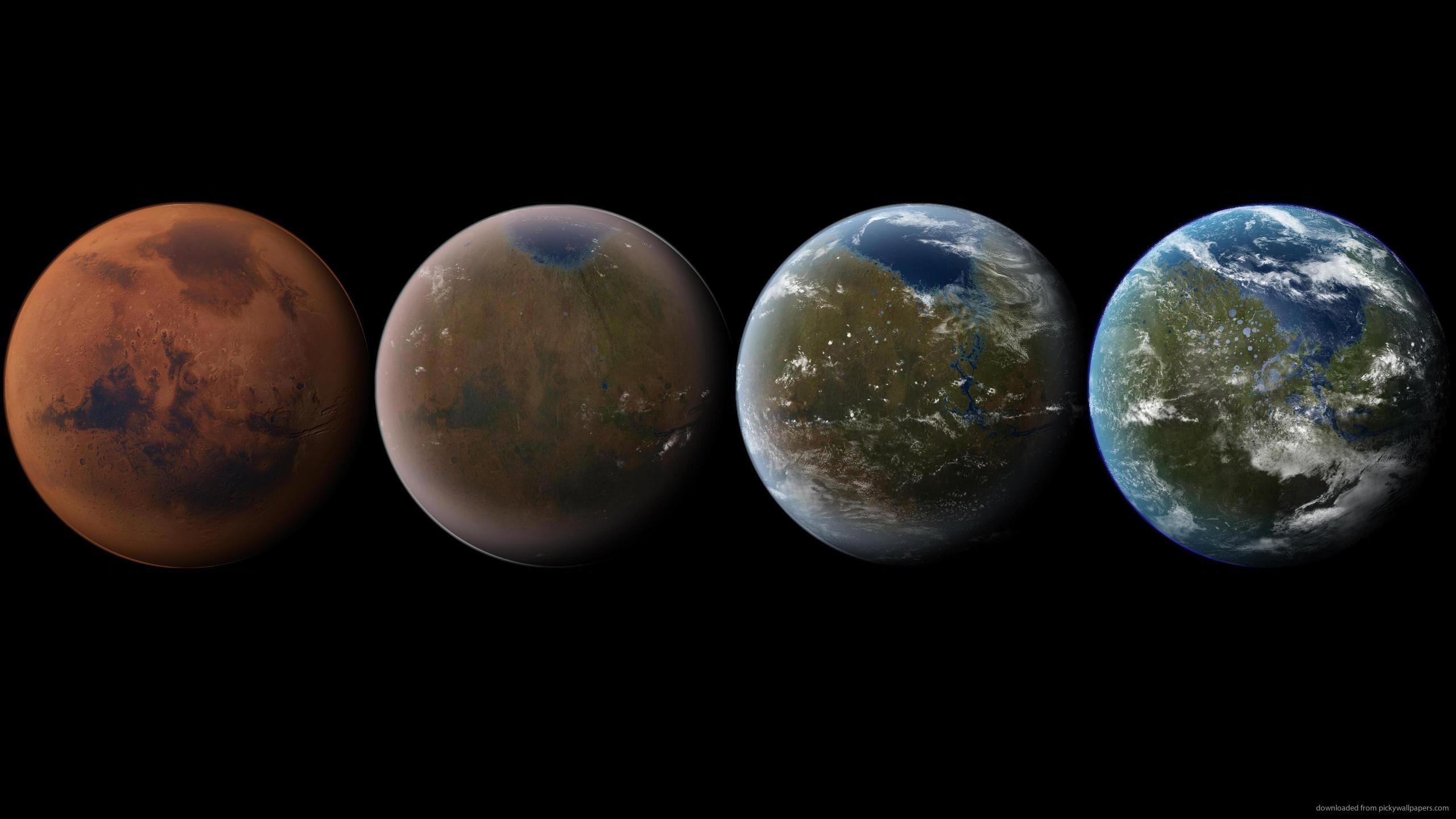Download 2560x1440 Mars Terraforming Wallpaper