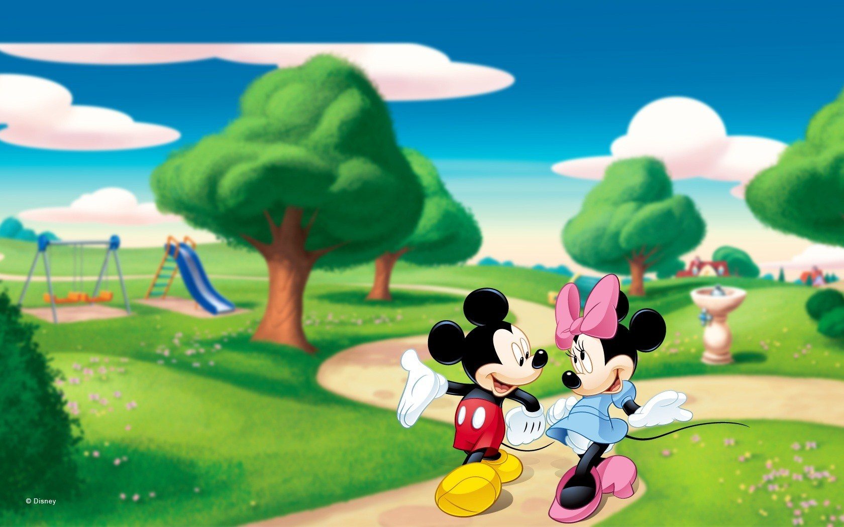 Mickey Mouse And Minnie Mouse Wallpaper Sf Wallpaper