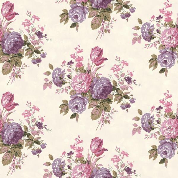 The Wallpaper Company 56 sq  ft  Purple and Pink Pastel Cottage