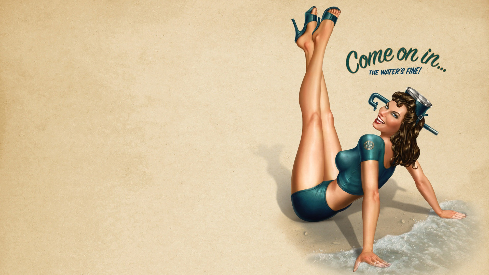 Vintage Pin Up Wallpaper Sf Wallpaper
