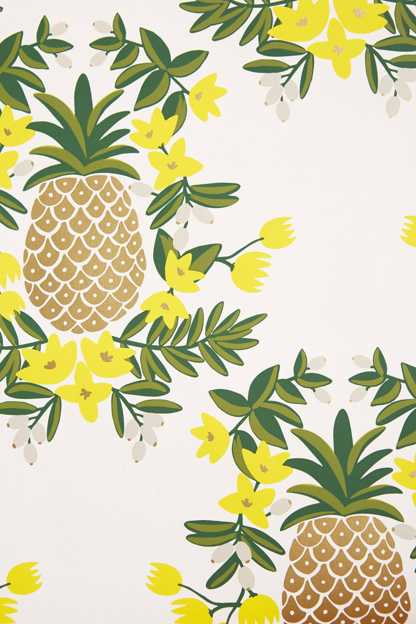 Pineapple Welcome Wallpaper | Anthropologie