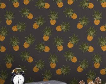Pineapple wallpaper | Etsy