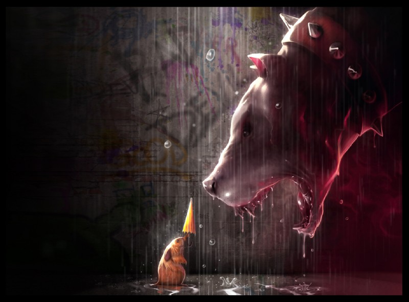 Download Collar Dog Fangs Mouse Pitbull Rain Rodent Spikes