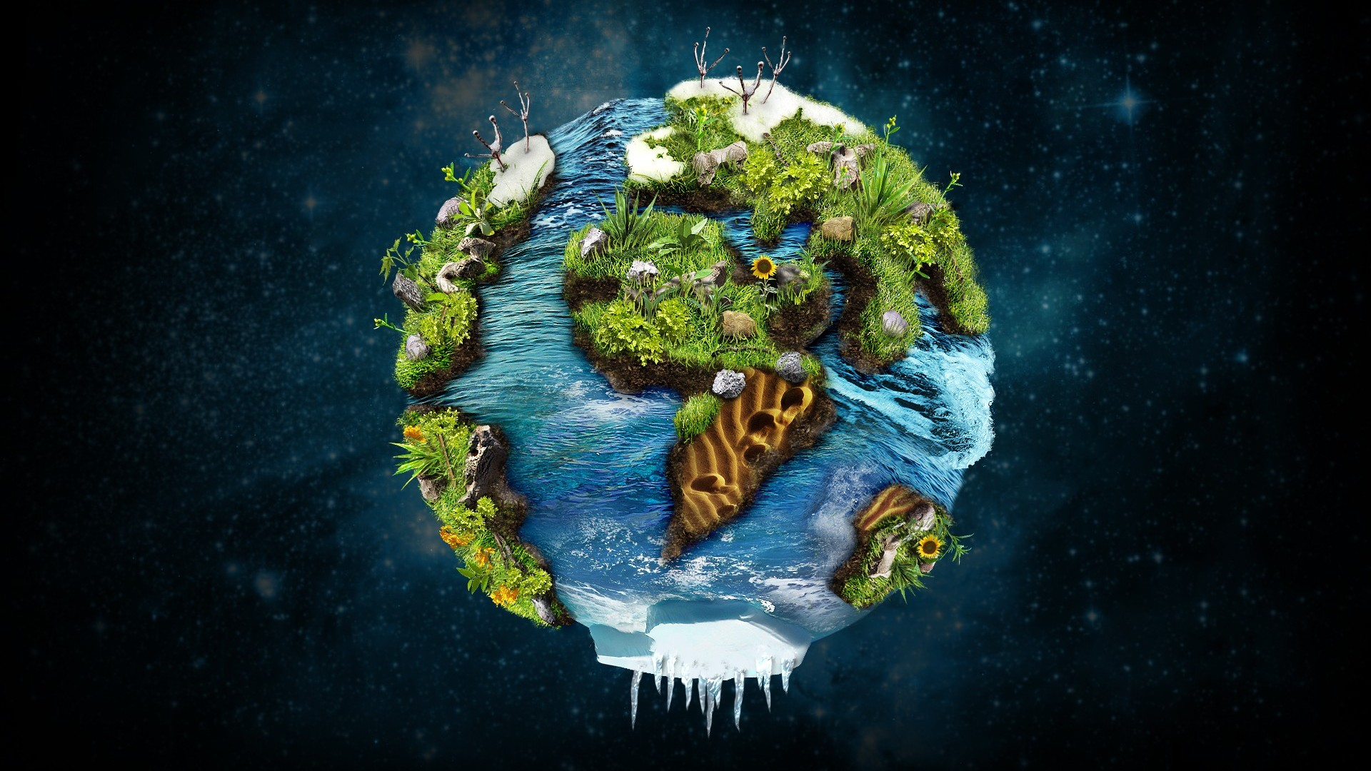 Planet Earth Wallpapers HD - WallpaperSafari