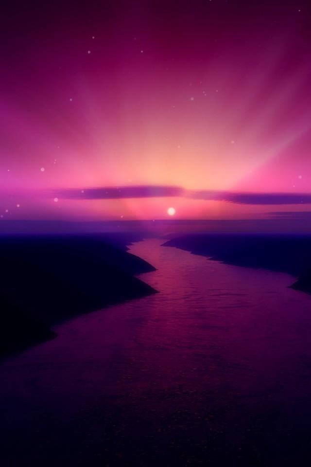 Purple Sunset iPhone Wallpaper | Retina iPhone Wallpapers