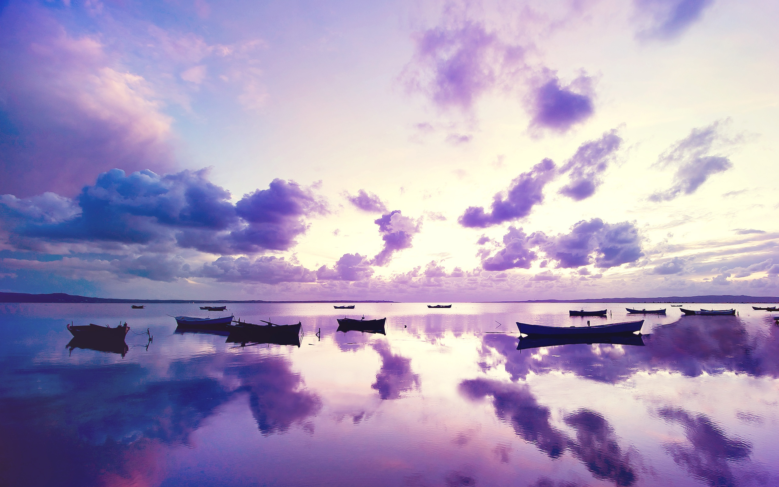 Daily Wallpaper: Purple Sunset | I Like To Waste My Time