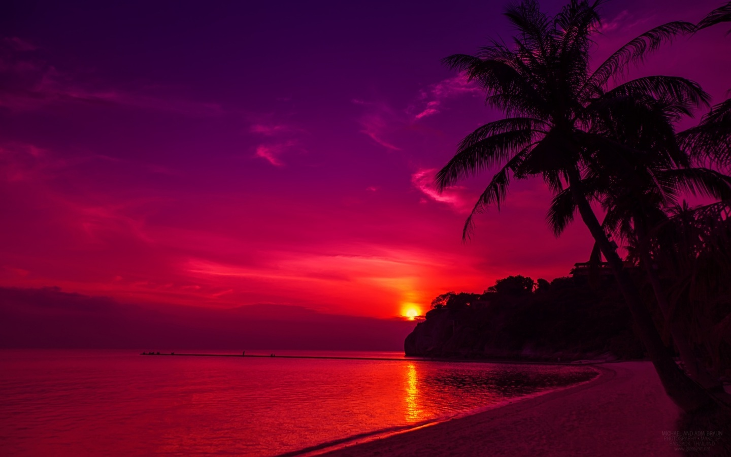 Purple Sunset Wallpapers Group (75+)