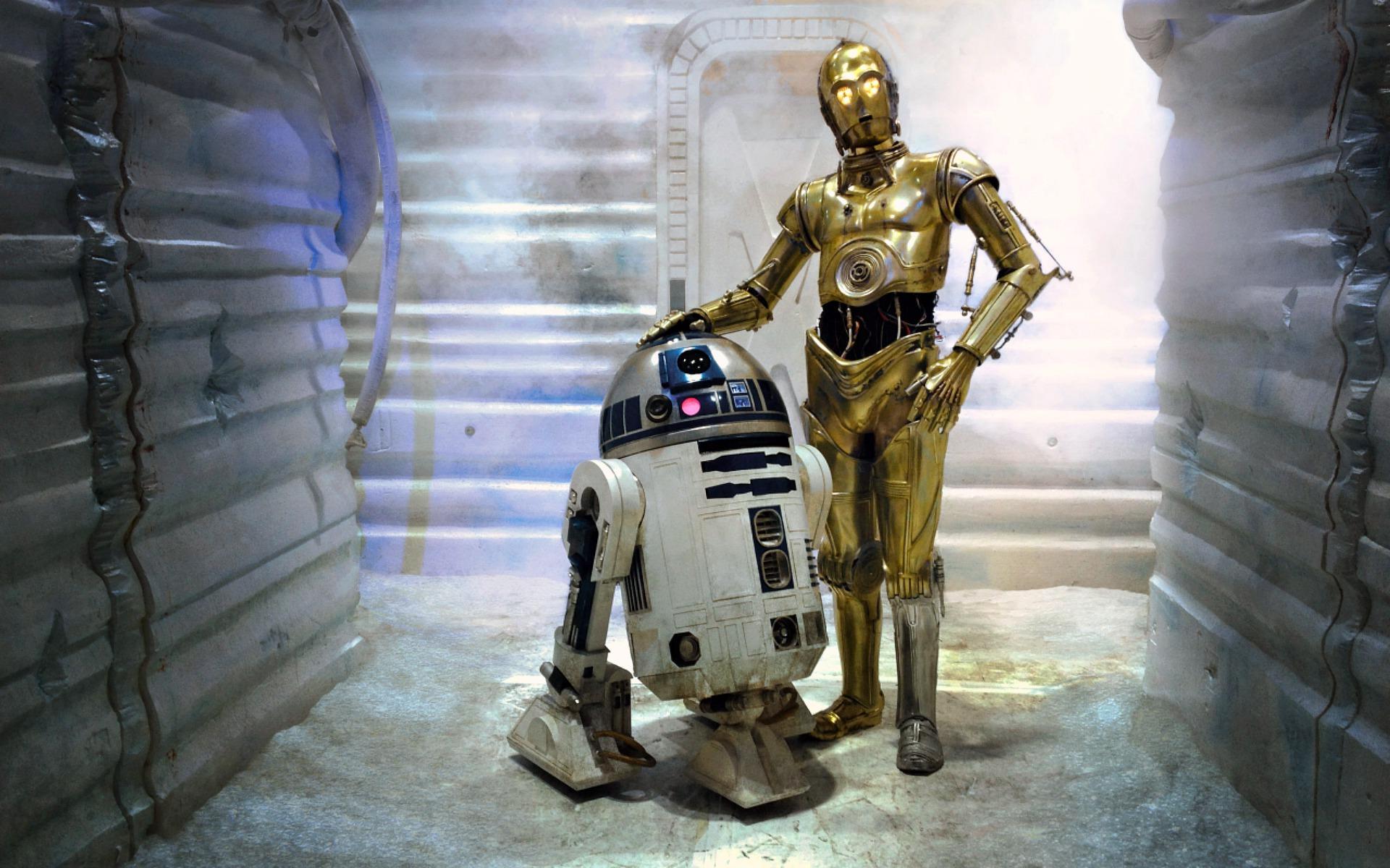 R2-D2 & C-3PO Best Friends - 1920x1200 - Full HD 16/10 - Wallpaper