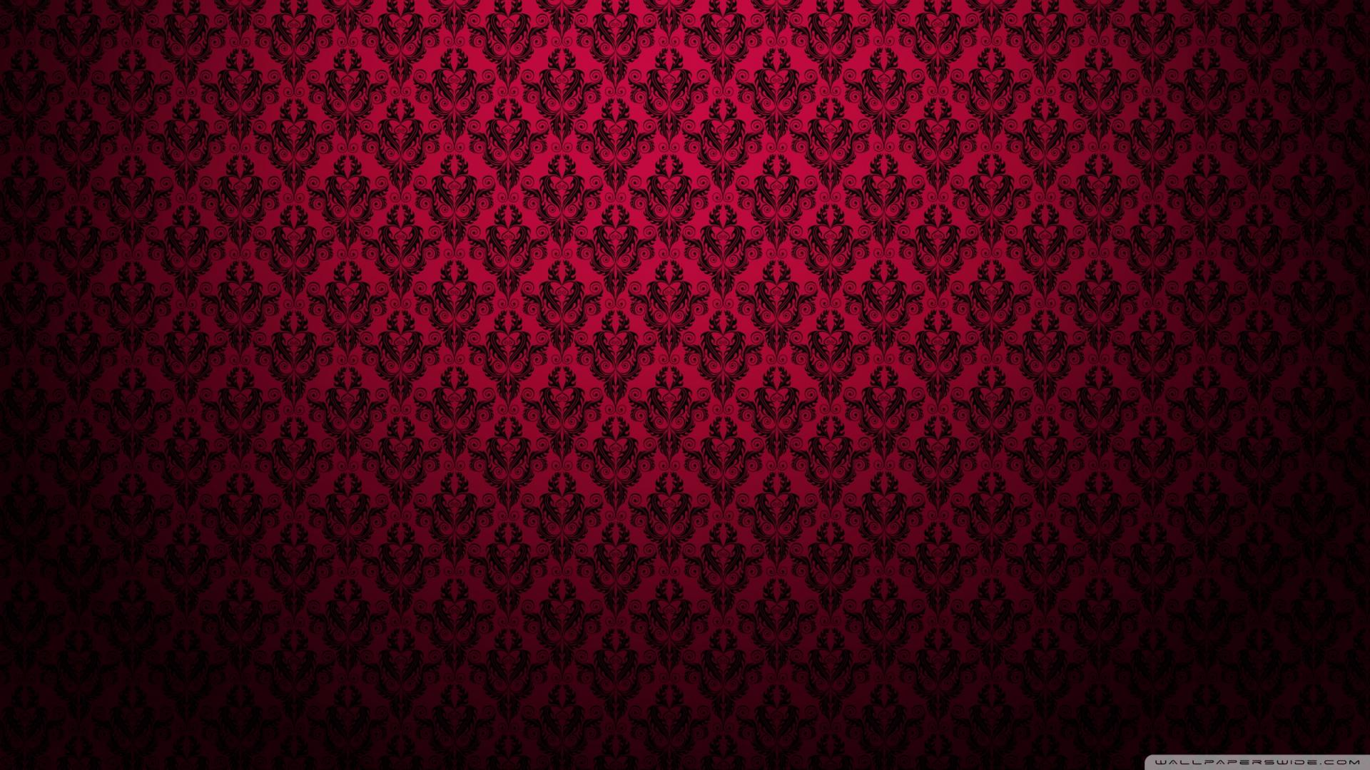 Red And Black Damask Pattern Wallpaper Home Pinterest