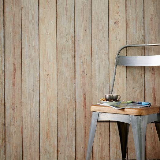 Rustic Wood Wallpaper | west elm