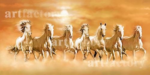 Vastu Running Seven Horse Paintings