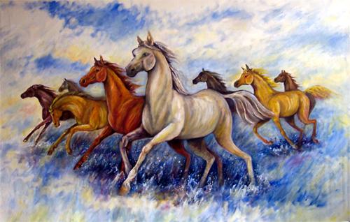 Seven Horses by winrymarini on DeviantArt