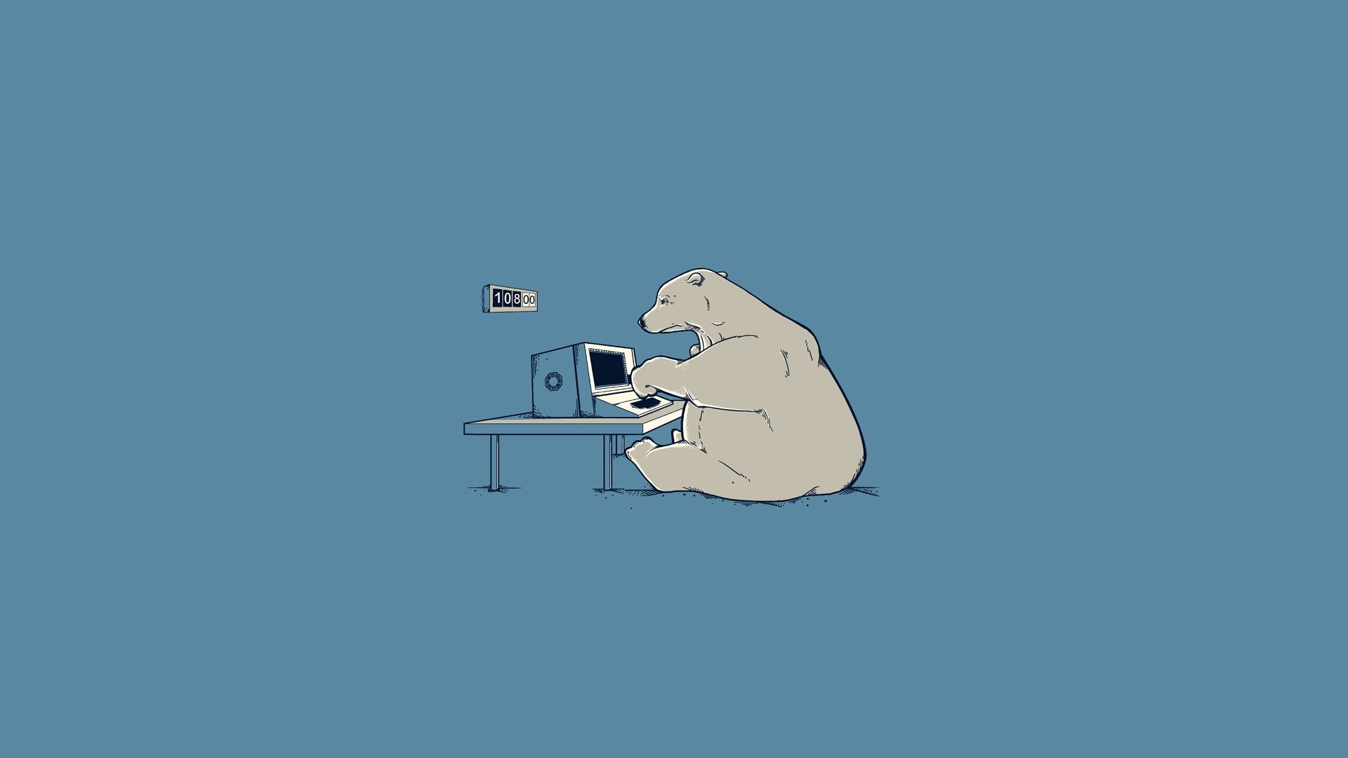abstract, computers, solid, bears, simplistic, simple, misplaced