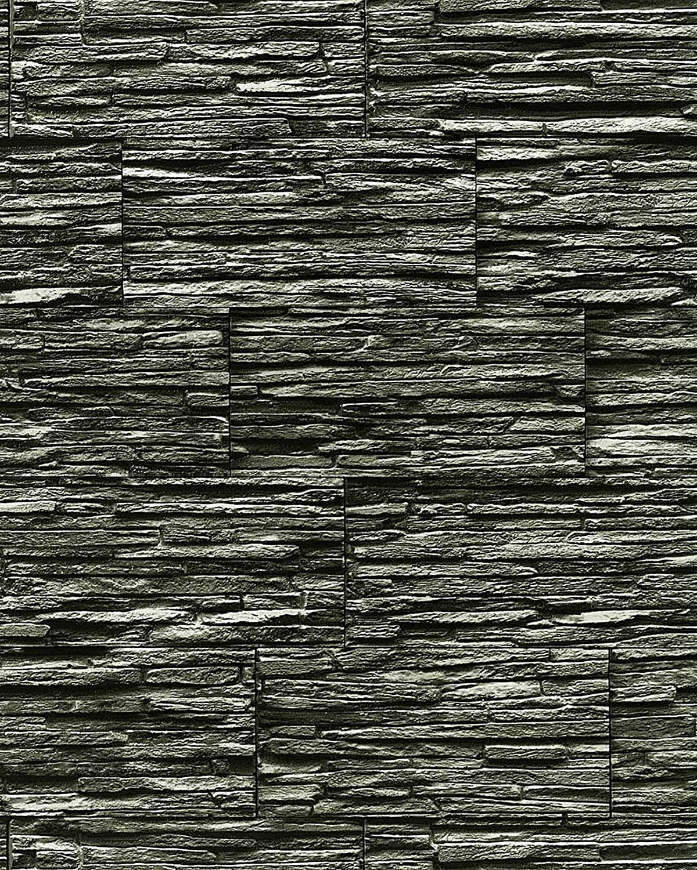 Vinyl wallpaper wall modern textured stone natural 1003-34 brick