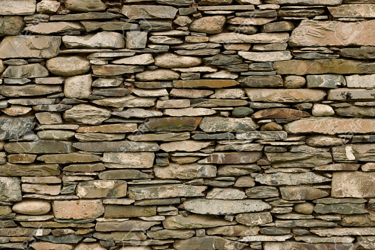 Natural Stone Wall Hand Crafted By An Experienced Mason, Great