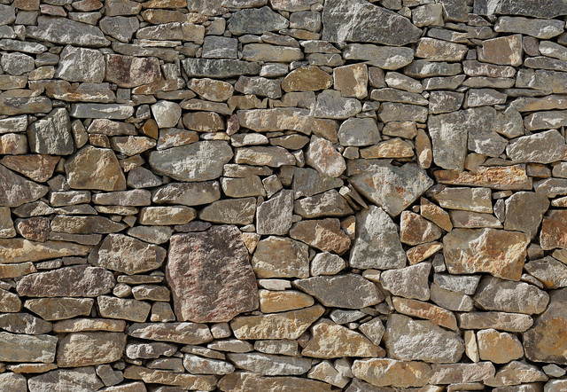 Stone Wall Wall Mural - Traditional - Wallpaper - by Brewster Home